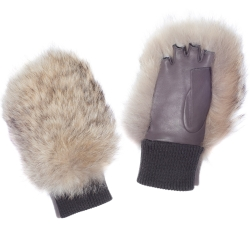 COURCHEVEL MITT COYOTE GREY